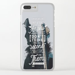 Sherlock - Angels Clear iPhone Case