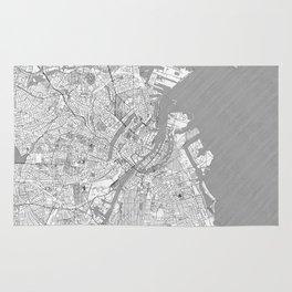 Copenhagen Map Line Rug