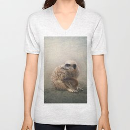 Study of a young Meerkat Unisex V-Neck