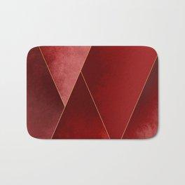 Crimson Tones Bath Mat