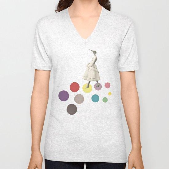 Bird Lady Unisex V-Neck