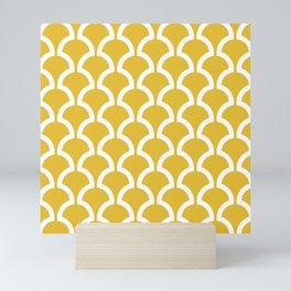 Classic Fan or Scallop Pattern 469 Mustard Yellow Mini Art Print