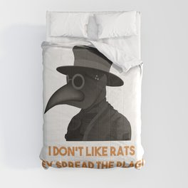 Medieval Plague Doctor Doesn't Like Rats Comforters