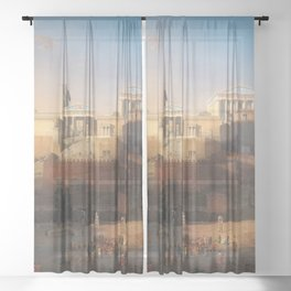 The Acropolis of Athens, Greece by Leo von Klenze Sheer Curtain