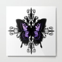 Gothic Butterfly Metal Print