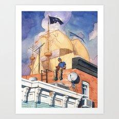 Rowhouse Art Print