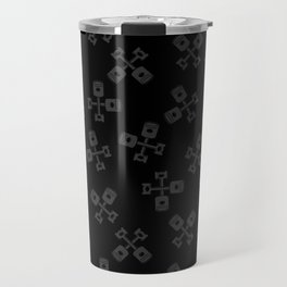Crossed Pistons Seamless Repeating Pattern Travel Mug