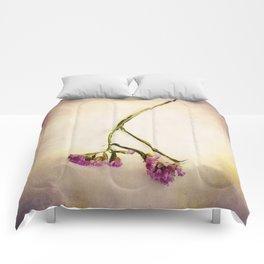 Abandoned Purple Flower Comforters