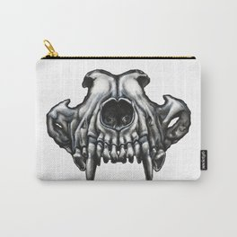 Illustrated Wolf Skull Carry-All Pouch