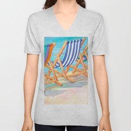 Beach Chairs 1 Unisex V-Neck