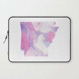 Watercolor State Map - Arkansas AR purple and pinks Laptop Sleeve