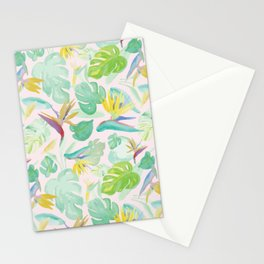 Birds of Paradise Pattern Stationery Cards