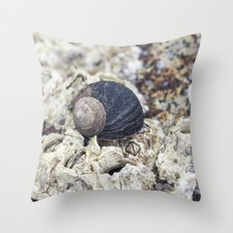 periwinkle close up Throw Pillow