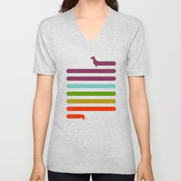 (Very) Long Dachshund Unisex V-Neck