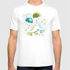 Roller Derby Rumble Mens Fitted Tee White MEDIUM