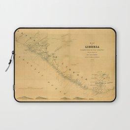 Map Of Liberia 1850 Laptop Sleeve
