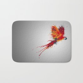 Colorfull parrot Bath Mat