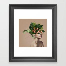 Lady Flowers llll Framed Art Print
