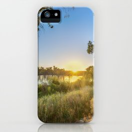 River Sunrise iPhone Case