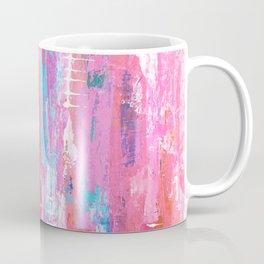 Abstract pink with fish bones Coffee Mug