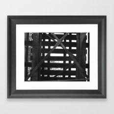 UNDERTHERAIL Framed Art Print