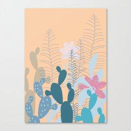 Blue Cacti Garden #Society6 #buyart #decor Canvas Print