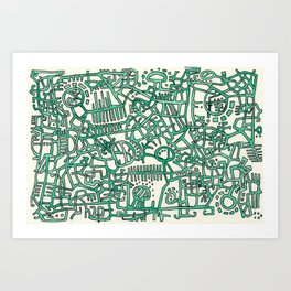Begin/End Series in Green Art Print