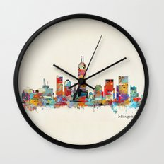 Indianapolis Indiana skyline Wall Clock