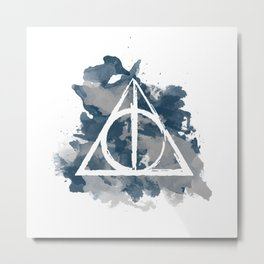 The Deathly Hallows (Ravenclaw) Metal Print