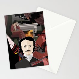edgar alan poe tales Stationery Cards