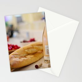France Photography - Wine And Baguette Stationery Cards