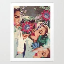 Passiflora *collage Art Print