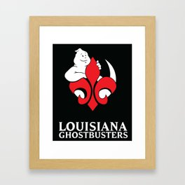 Louisiana Ghostbusters Logo with Black Background Framed Art Print