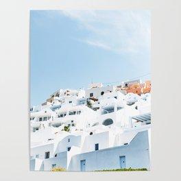 Lost in Santorini Greece Poster
