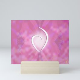 White Heart Sensuous Pinks Mini Art Print