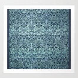 William Morris - Printed Textile Pattern - Brer Rabbit (1882) Art Print