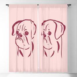 Petit Brabancon (Pink and Burgundy) Blackout Curtain