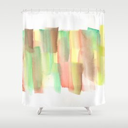 [161228] 21. Abstract Watercolour Color Study |Watercolor Brush Stroke Shower Curtain
