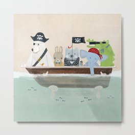 the pirate tub Metal Print