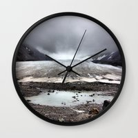 lee pace Wall Clocks featuring Glacial Pace by MARLER MADE