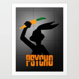 Psycho Bunny Art Print