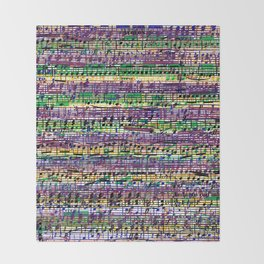 Beethoven Op 29 - Rainbow Music Collage Throw Blanket