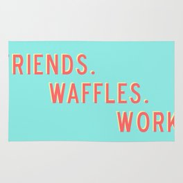 PARKS AND REC FRIENDS WAFFLES WORK Rug