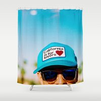 coachella Shower Curtains featuring California is for Lovers by Tosha Lobsinger is my Photographer