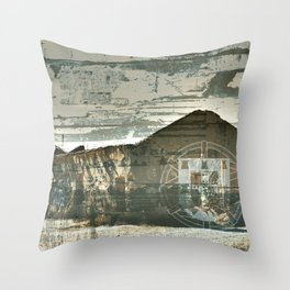 Algarve Portugal Old Home Throw Pillow
