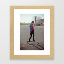 long boarding  Framed Art Print