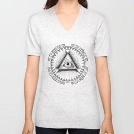 The Triangle-shaped Watcher Unisex V-Neck