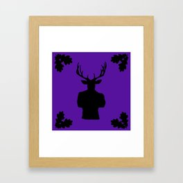 Stag Stud in Purple Framed Art Print