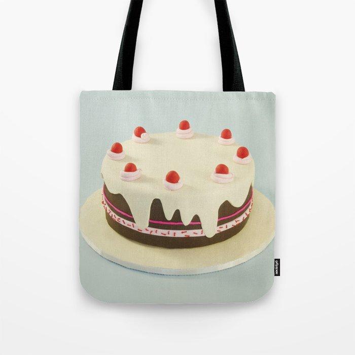 Retro Birthday Cake Tote Bag By Yesbrooklyn Society6