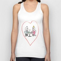 manatee Tank Tops featuring Manatee Date by withapencilinhand